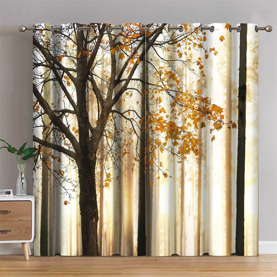 blackout printed curtains