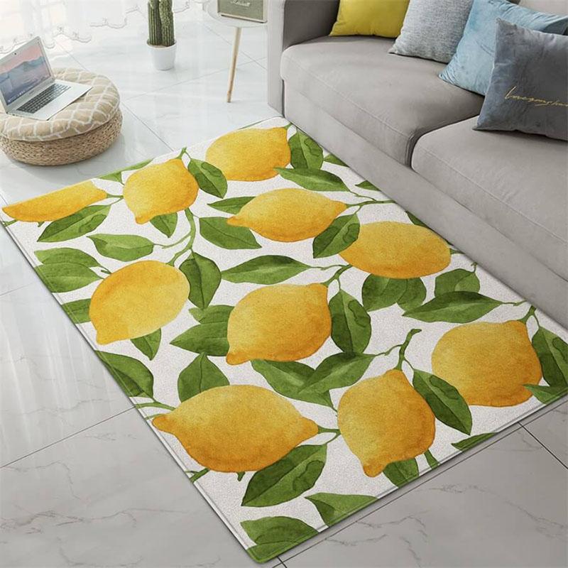 yellow lemon area rug
